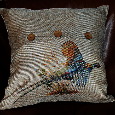 Pheasant Throw Pillow Cover