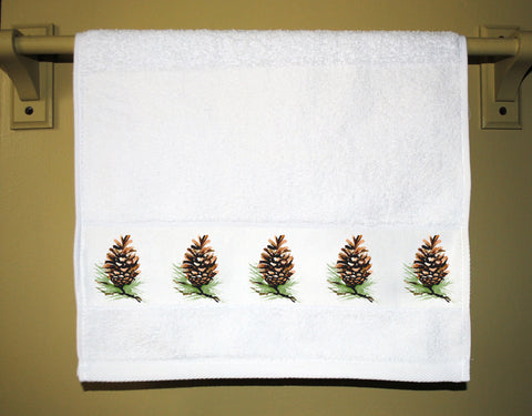 Pinecones Guest Towel