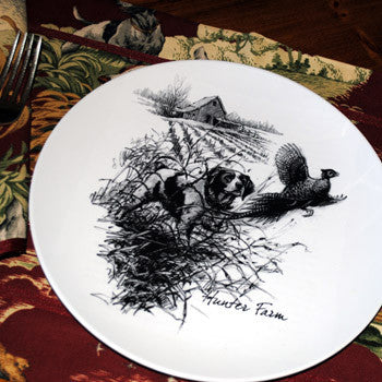 Brittany & Pheasant Melamine Platters & Plates