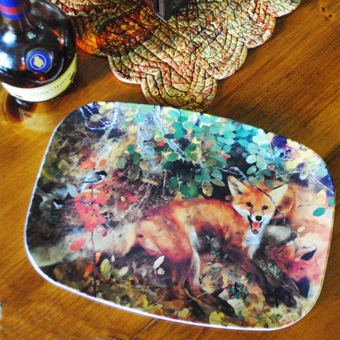 Red Fox Melamine Platters & Plates