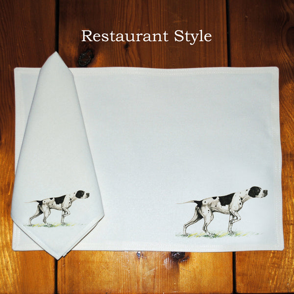 Table Linens, Set of Six - Pointer