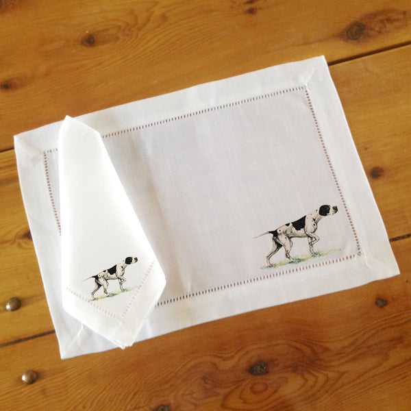 Hemstitch Place Mats & Napkins - Set of Six, Pointer