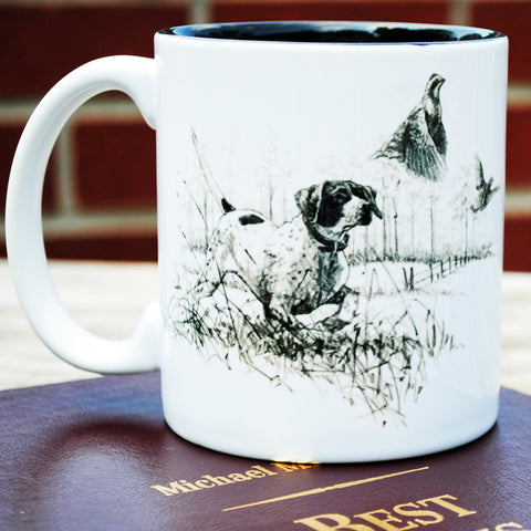 Pointer with Bobwhite Quail Mug