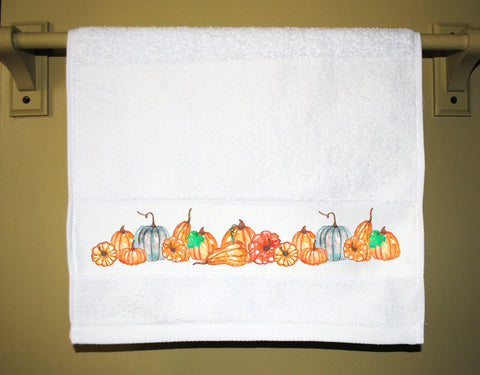 Autumn Pumpkins Guest Towel