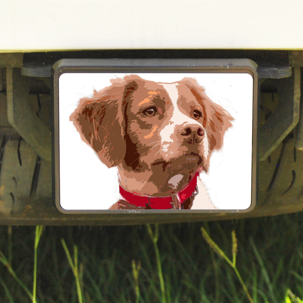 Rectangle Trailer Hitch Cover, Brittany Spaniel