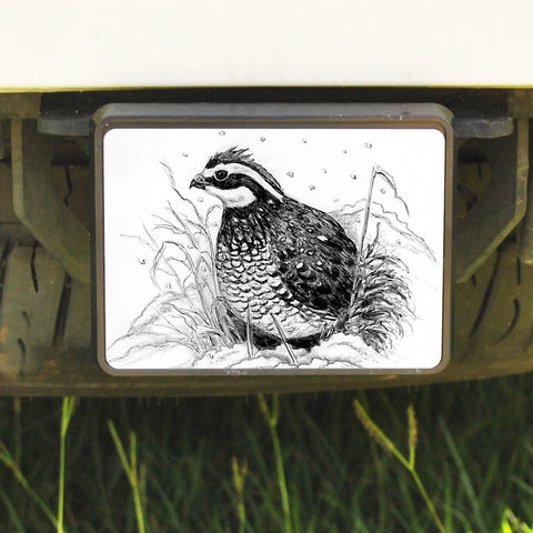 Rectangle Trailer Hitch Cover,Bobwhite Quail
