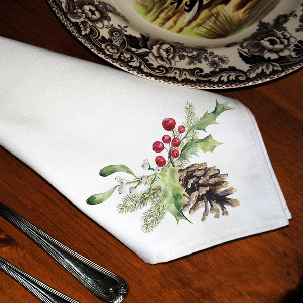 Table Linens, Set of Six - Pinecone