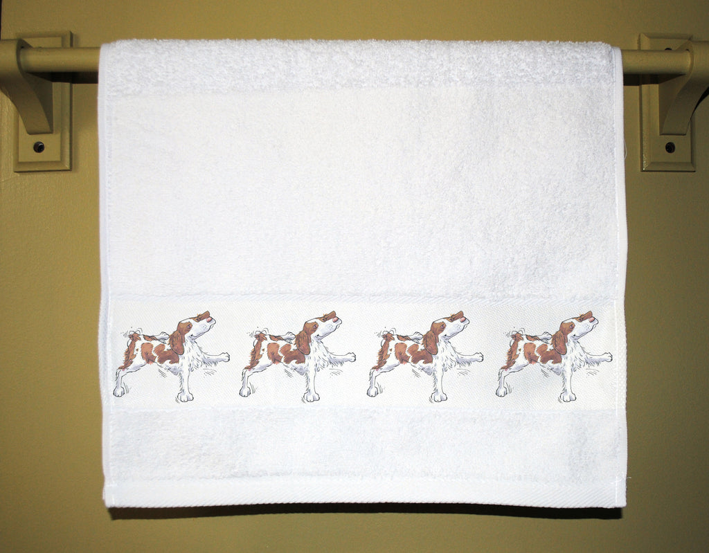 Sassy Brittany Spaniel Guest Towel