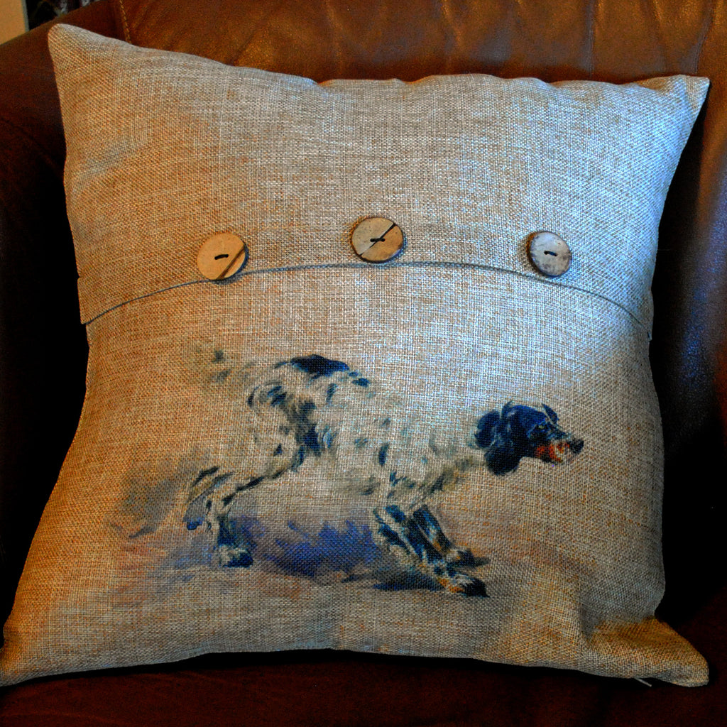 English Setter Throw Pillow Cover