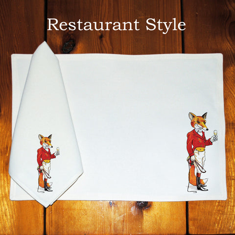 Table Linens, Set of Six - Fox Hunter