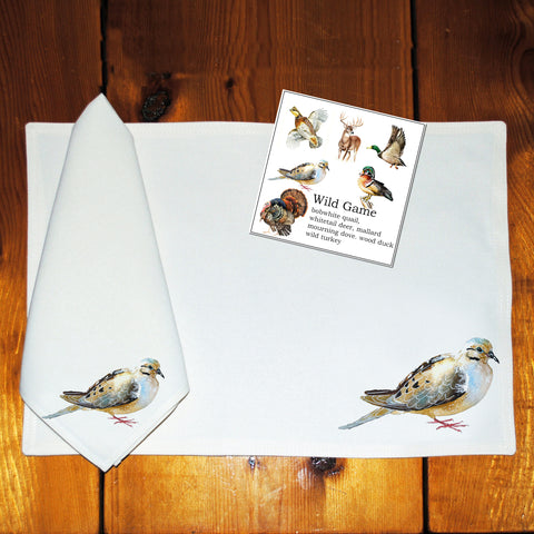 Table Linens, Set of Six - Wild Game