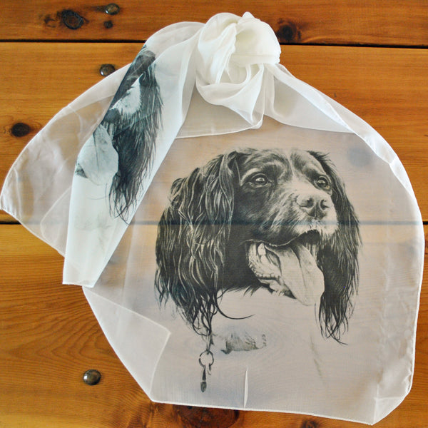 "Springer Spaniel Ladies' ""Silky"" Scarf"