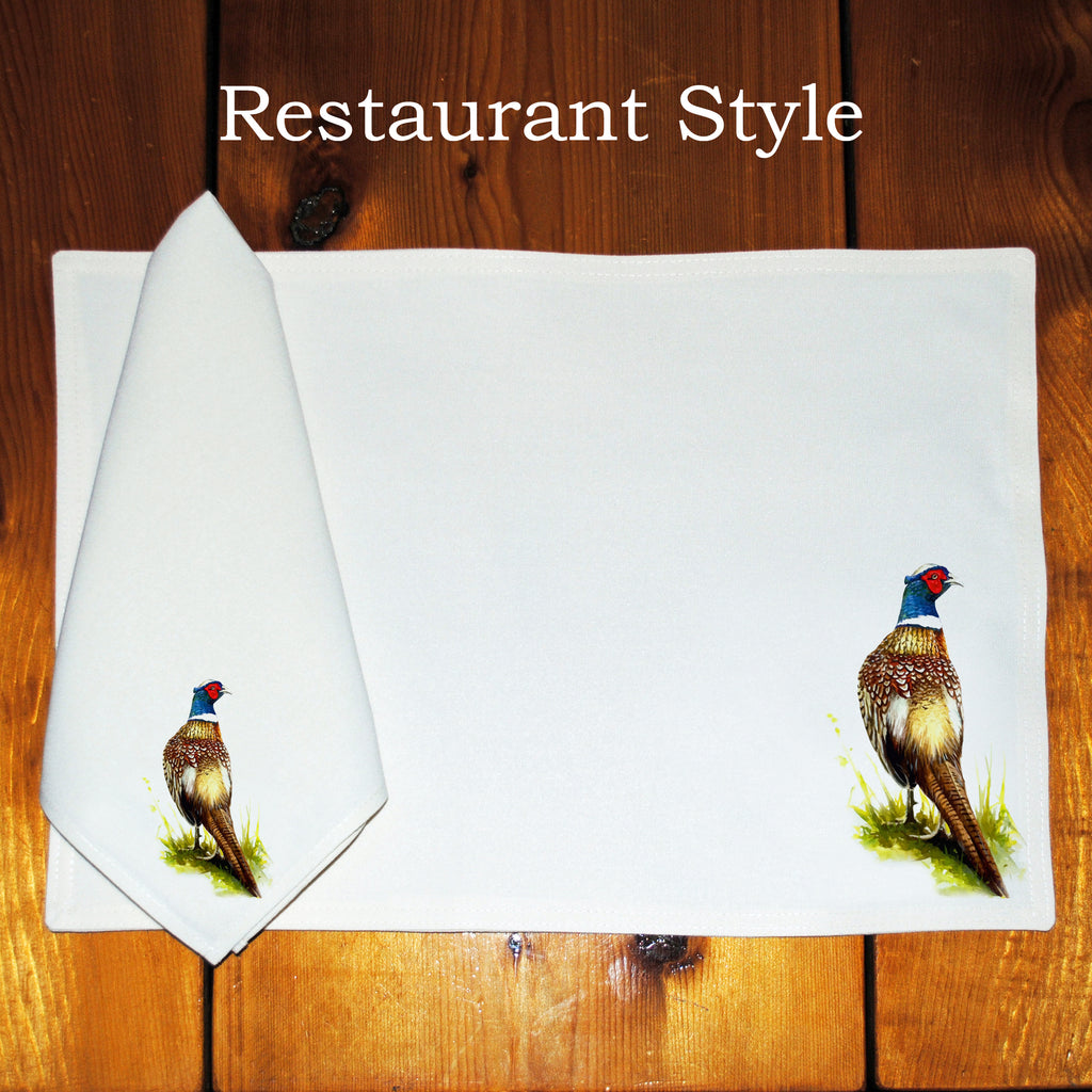 Table Linens, Set of Six - Pheasant