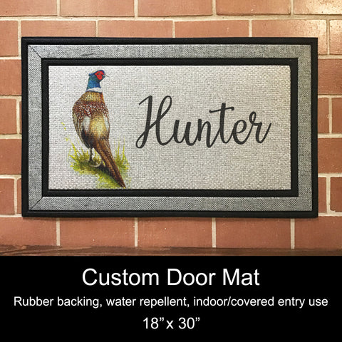 "Custom Door Mat, 18"" x 30""- Pheasant"