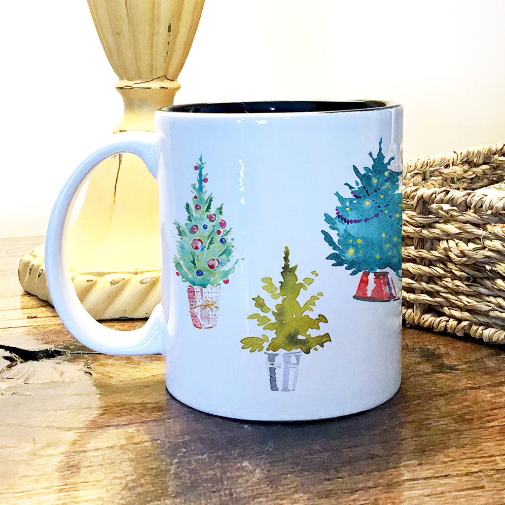Ceramic Mug - Christmas Trees