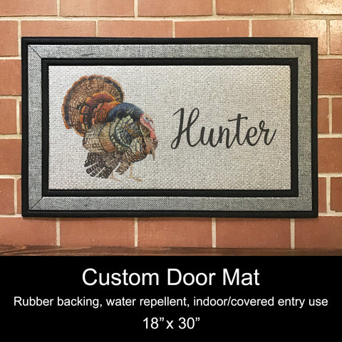 "Custom Door Mat, 18"" x 30""- Wild Turkey"