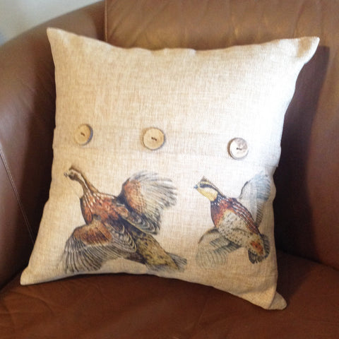 Bobwhite Quail Throw Pillow Cover