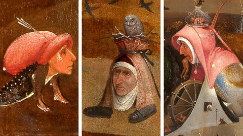 Paintings - various monsters by Hieronymus Bosch