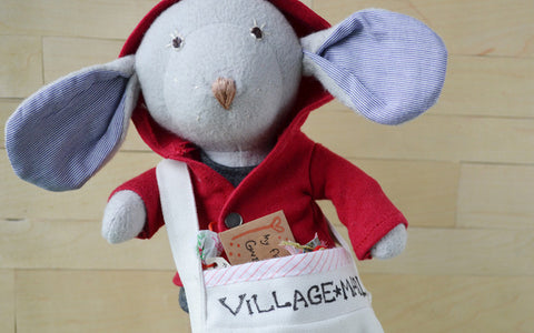 Oliver Mouse delivering Valentine's cards to Hazel Village