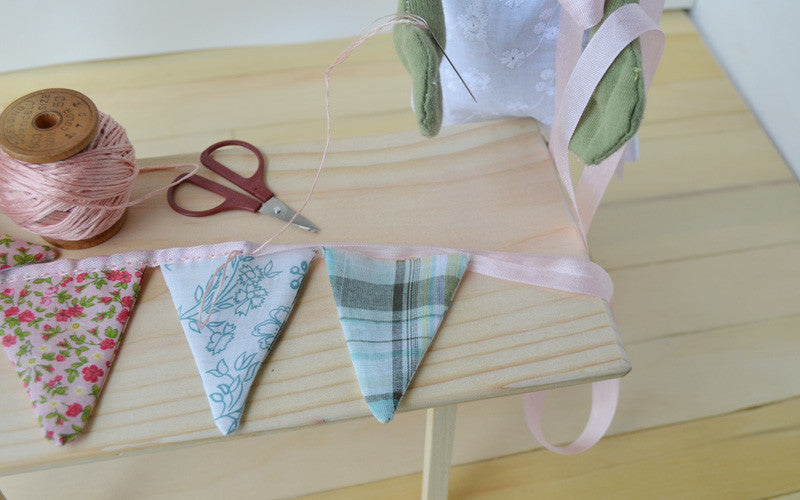 May Day Bunting -- Arranging the triangles