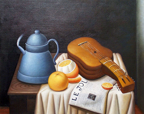 "Painting - ""Still Life with Newspaper"" by Fernando Botero"