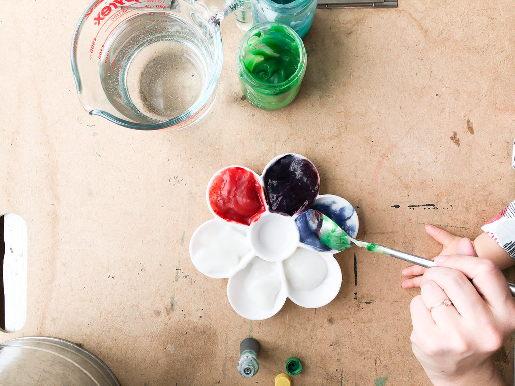 food coloring with paste