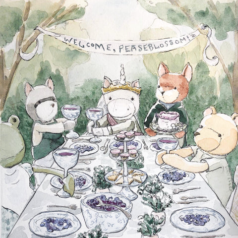 Hazel Village Grand Banquet Illustration