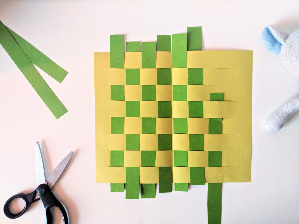 Max Raccoon's Paper Weaving Placemat Craft
