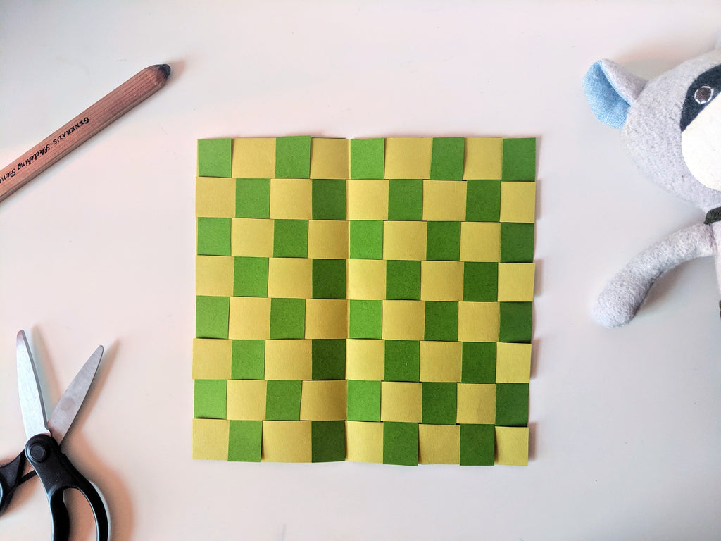 Max Raccoon's Paper Weaving Placemat Kid's Craft