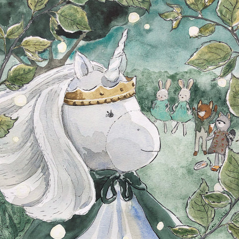 Peaseblossom Unicorn Painting