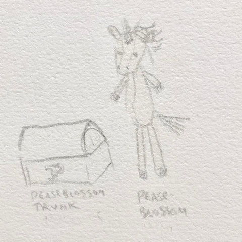 Peaseblossom Unicorn Sketch
