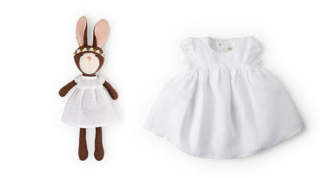 Zoe Rabbit and linen dress