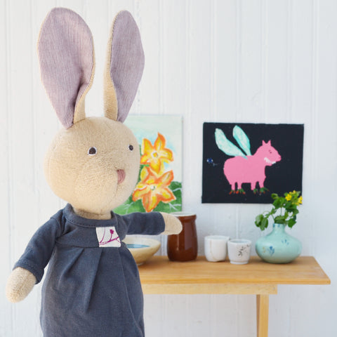 Juliette Rabbit with her picture frames