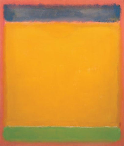 "Painting - ""United (Blue, Yellow, Green on Red"" by Mark Rothko"