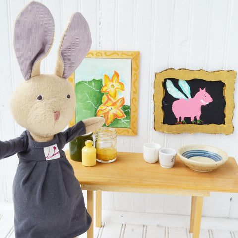 Juliette Rabbit with doll mini-picture frames