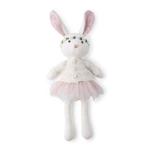 Penelope Rabbit with Sugar Flowers Liberty Ears - Sweater, Tutu, Flower Crown