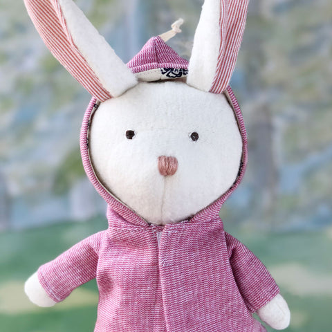 Hazel Village Handmade Organic Cotton Stuffed Animal Penelope Rabbit Doll