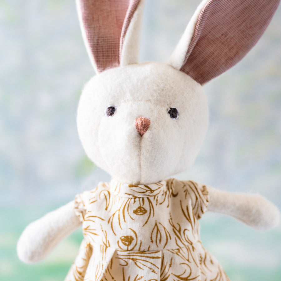 Penelope Rabbit in Herb Meadow Dress