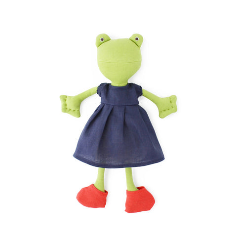 Red Frog Socks for Dolls