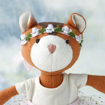Hazel Village Handmade Organic Cotton Stuffed Animal Josie Chipmunk Doll