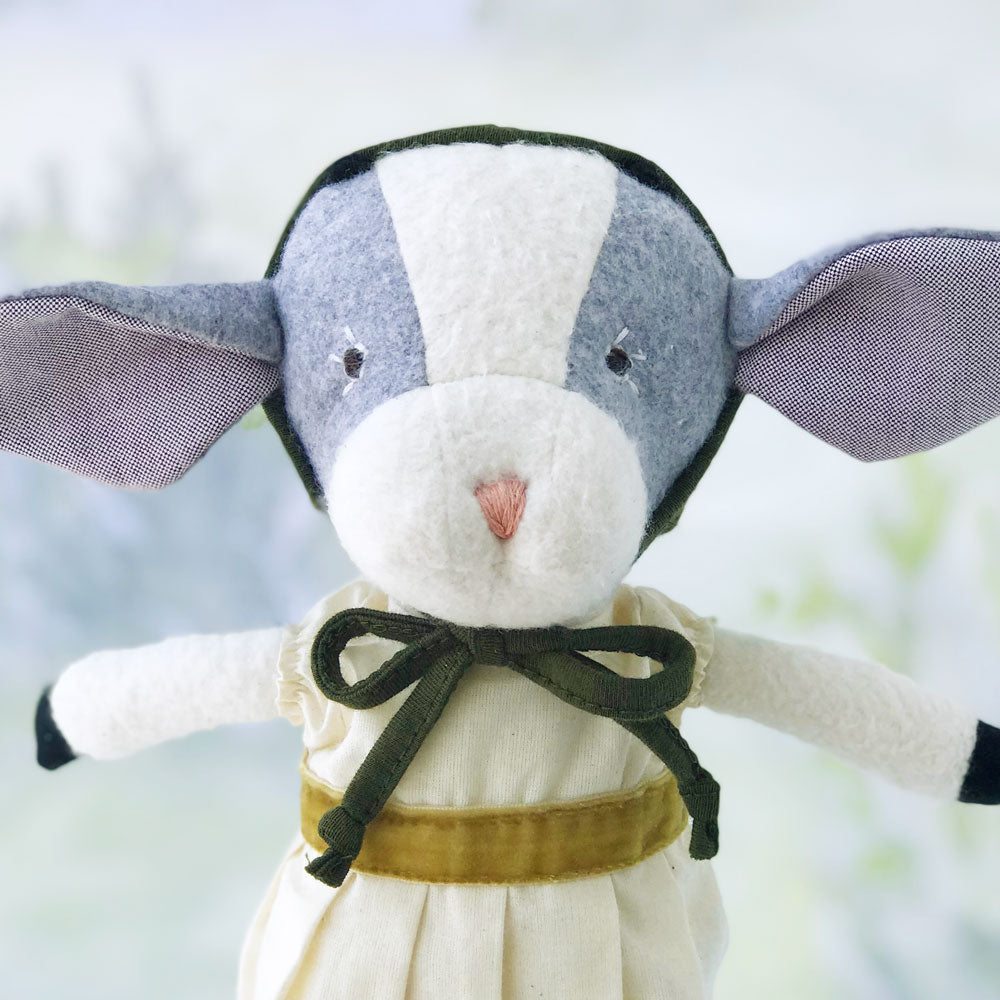 Hazel Village Handmade Organic Cotton Stuffed Animal Ivy Goat Doll