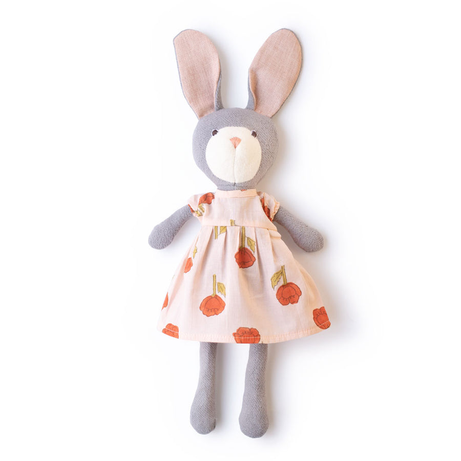 Violet Rabbit in Field of Poppies Dress