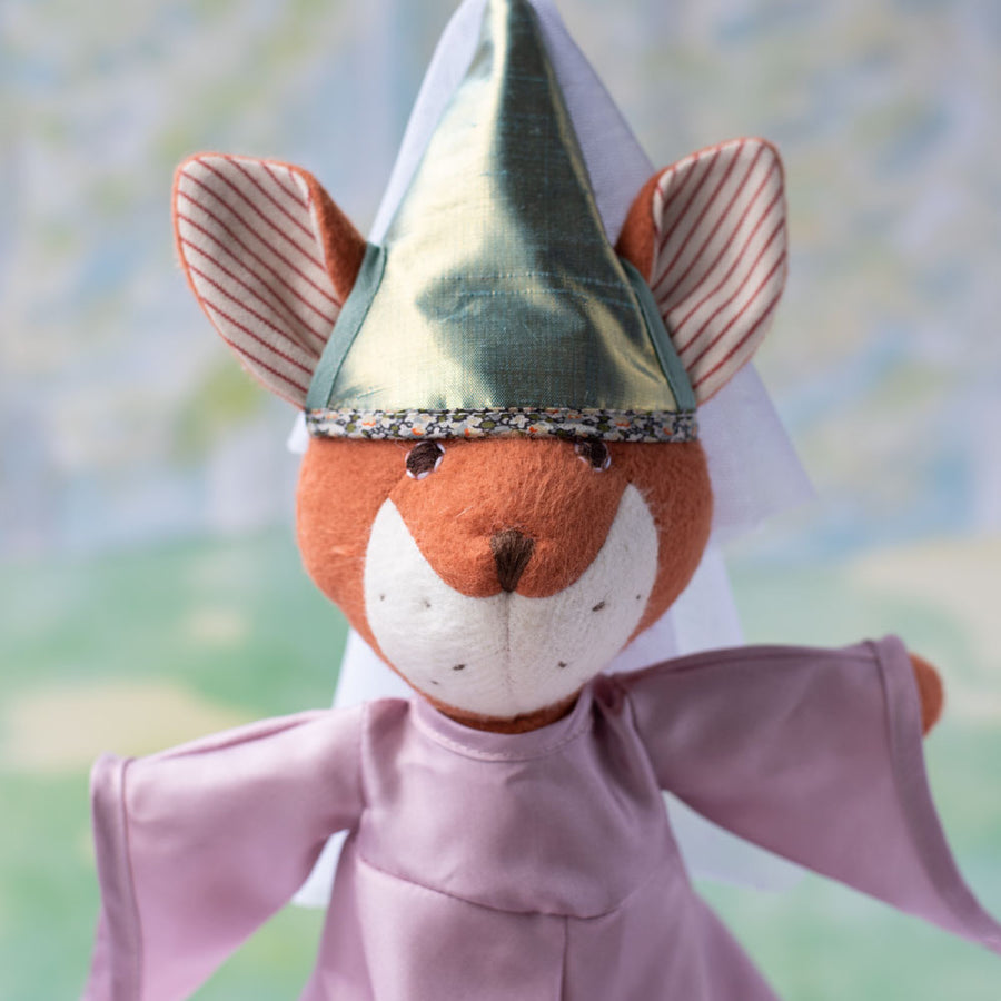 Flora Fox in princess costume