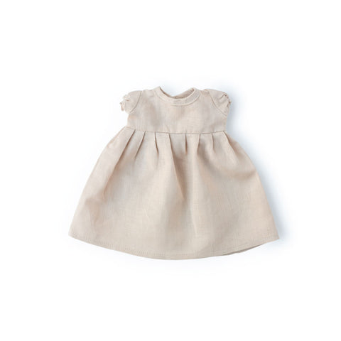 Linen Dress for Dolls - Peach