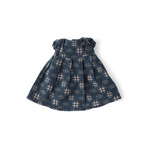 Navy Gardening Dress for Dolls