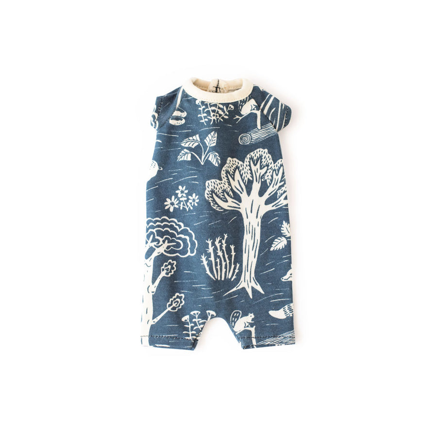 WWF Romper for Dolls - In the Forest Navy