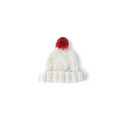 Snowdrop Pom-Pom Hat for Dolls