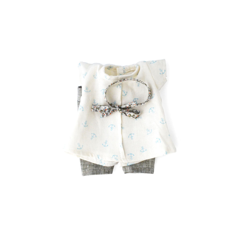 Hazel Village DressUp Doll Clothes Anchor Shirt Set with Leggings and Bowtie