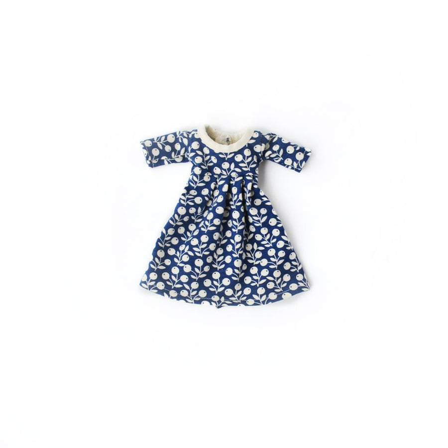 Navy Berries Dress for Dolls