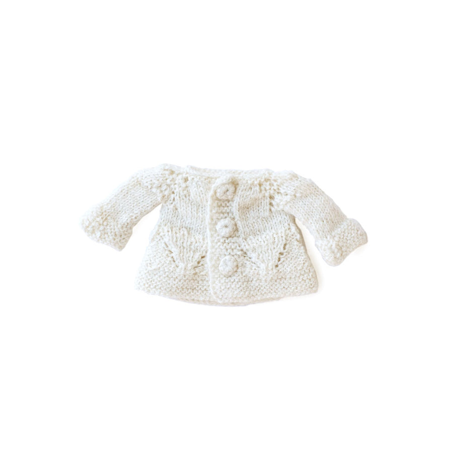 Hazel Village DressUp Doll Clothes Handmade Knit Doll sweater White